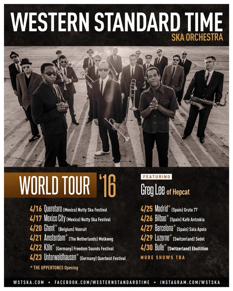 Western Standard Time Ska Orchestra - World Tour 2016